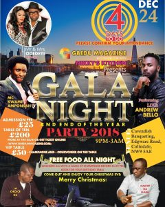 Gala Night and End of year party show