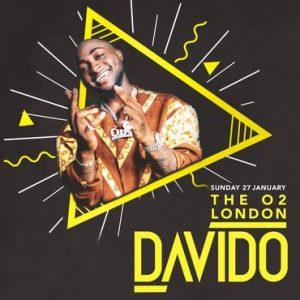 The O2 London Davido Sunday 27th January 2019