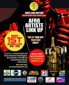 Afro Artiste Link Up End of Year Get Together Party
